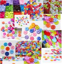 Candy Colorful Buttons, Resin Round, Mixed Color, 6mm 9m 11mm 15m 25mm Christmas