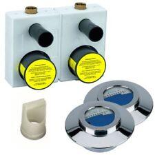 Wasserzähler Unterputz Montageblock TEC 3000 ALLMESS UP6000 Duo Mono Chrom DVGW