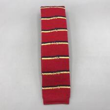 """Vintage Stafford Square Cotton Tie Striped Necktie 2"""" 1980's"""