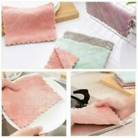 5PCS Super Absorbent Microfiber Kitchen Dish Cloth Towel Household Cleaning Q4O2