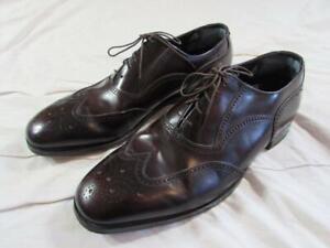 Florsheim Burgundy Wing Tip Leather Dress Shoes Sz 10 C Brogue Mens Nice!