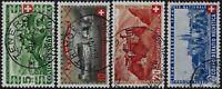 Svizzera - 1944 - Pro Patria - serie completa usata - Unificato n.395/398