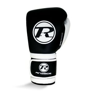 Ringside Leather Pro Training G1 Boxing Gloves Black Sparring Fight Mitts