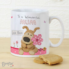 Personalised Mug, Boofle Teddy Flowers, Mothers Day, Valentines, Birthdays
