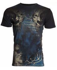 Archaic AFFLICTION Mens T-Shirt NEWMAN Skulls Fight Tattoo Biker UFC SMALL $40