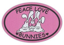 Oval Shaped Pet Magnets: PEACE, LOVE, BUNNIES (Rabbits) | Cars, Trucks