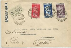 Posta aerea Ferrucci Tripolitania usati su busta 1930