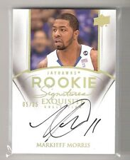 MARKIEFF MORRIS 11/12 exquisite gold on card auto rookie #78 serial #05/25