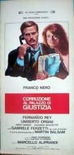 locandina 1975 CORRUZIONE AL PALAZZO DI GIUSTIZIA-Franco Nero-Mara Danaud-F.Rey