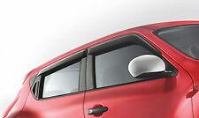 Genuine NISSAN JUKE ORIGINALE finestra VENTO / raindeflectors ANTERIORE + POSTERIORE SET h08001ka00