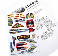 MOTU Masters of the Universe replacement stickers for 1982 ATTAK TRAK + Bonus!!!