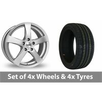 "4 x 17"" Dezent RE Silver Alloy Wheel Rims and Tyres -  225/60/17"