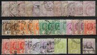 Ceylon British Lot mit alten Werten VIII