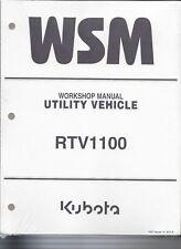 Kubota RTV1100 Utility Vehicle Workshop Service Manual 9Y111-00115