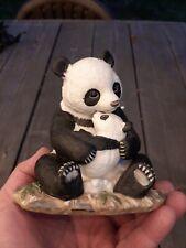 Panda-Homco 1988 Masterpiece Porcelain Figurine Panda Bear and Cub.