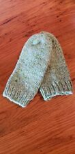 hand dyed, handspun and knit Wool green Mittens