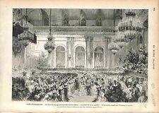 Polonaise Dance Danse Saint Petersburg, Alexander II RUSSIA GRAVURE 1874