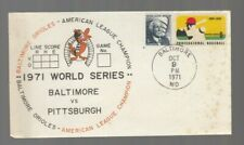 Baltimore Orioles 1971 World Series First Day Cover Baltimore VS Pittsburgh