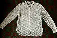 Vintage LAURA ASHLEY Ladies' Blouse - Long sleeve - Lacy - Sheer - Size 12 - VGC