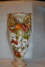 """ROYAL BONN Vase 1880 German 12+"""" Blue Bird/Leaf Vine Design H P Signed  #488307H"""