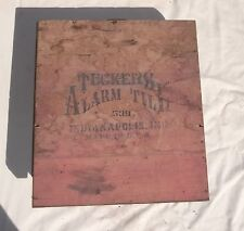 Original Antique Tuckers Alarm Till Cash Register