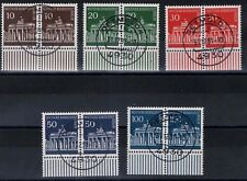 Berlin Mi. - Nr. 286 - 290 Paare mit Unterrand mit Vollstempel DETMOLD 31.12.91