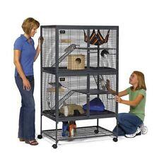 Midwest Critter Nation Animal Habitat + Stand Dbl Unit 36X24X63 Rabbit Cat Bird
