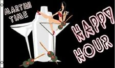 Happy Hour Martini Time Flag Party Banner Bar Sign 3x5 Foot