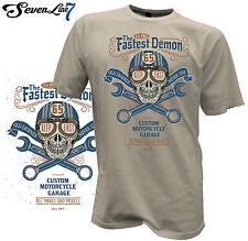 T-Shirt Biker Skull Motorrad Rocker Chopper Custom Totenkopf Harley V8 Hot Rod