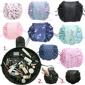 Portable Makeup Drawstring Bags Storage Magic Travel Pouch Cosmetic Make up Bag