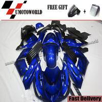 BLUE Fairing Kit For Kawasaki Ninja ZX14R ZX-14R 2006-2011 ABS Plastic Bodywork