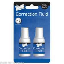 2 PACK SOLVENT FREE CORRECTION FLUID SET TWIN PACK FOR OFFICE New Free(P+P)..