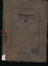 Wapakoneta OH Blume High School yearbook 1922 Ohio