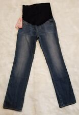 New Maternity Jeans Denim Over The Belly Boot-Cut Liz Lange NWT ▪Women's Size 2