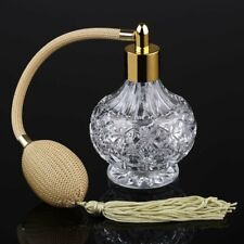 Vintage Clear Empty Refillable Glass Perfume Bottle Spray Atomizer Gift 80ml