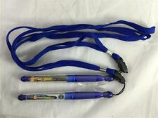 NEW 2 Blue Pens W/ Lanyard Ack Attack Top 1 World Record Fastest Motorcycle