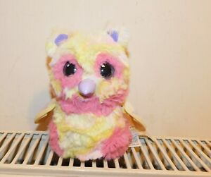 HATCHIMALS Light Up & Interactive Spin Master Toy Owl- BABY PINK & YELLOW