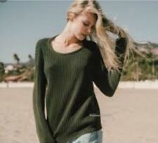 Rare! brandy melville light weight Green Ollie cable knit pullover sweater NWT