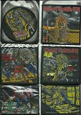 IRON MAIDEN bunch of 6 top sellers WOVEN SEW ON PATCHES official MERCH no.1