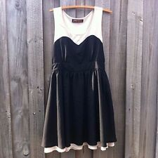 Cute Retro Princess HIghway Dangerfield  Black and Cream Dress Size 12