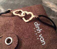 Bracelet Dinh Van Or Rose R13 Double Cœur
