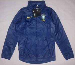 Nike Sz Small Brazil Brasil Soccer Allweather AWF Lite Jacket Windbreaker Blue