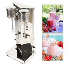 Stainless Steel Double Head Milk Shaker Mixer Milk Tea Shop Milkshake Blender Us