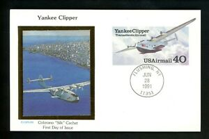 US FDC #UXC25 Colorano 1991 Flushing NY 40c Yankee Clipper airplane