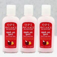 LOT 3 - OPI Avojuice APPLE PIE SPICE Skin Quenchers Hand Mini Lotion 30 mL 1 oz