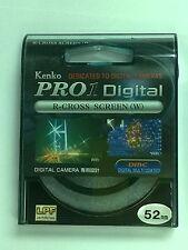 Genuine Kenko PRO1 Digital R-CROSS SCREEN (W) 52mm Filter