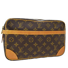 Auth LOUIS VUITTON Compiegne 28 Clutch Hand Bag Monogram Brown M51845 07Y784