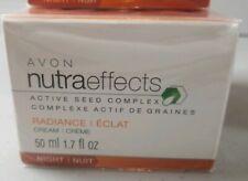 Avon Nutraeffects Radiance Night Cream Active Seed Complex 1.7 Fl Oz Aa