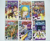 NEW MUTANTS #44 45 46 47 48 49 - SIX NM Marvel Comics w/HQ Scans - 1986 -1987