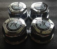 (4)  American Racing Plastic CHROME Center CAPS 6 Lug AR Rims 4x 1307100s FAST